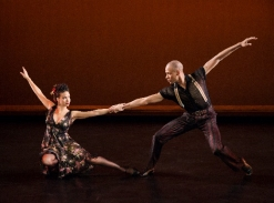 Alvin+Ailey+American+Dance+Theater's+Belen+Pereyra+and+Yannick+Lebrun+in+Paul+Taylor's+Piazzolla+Caldera.+Photo+by+Paul+Kolnik
