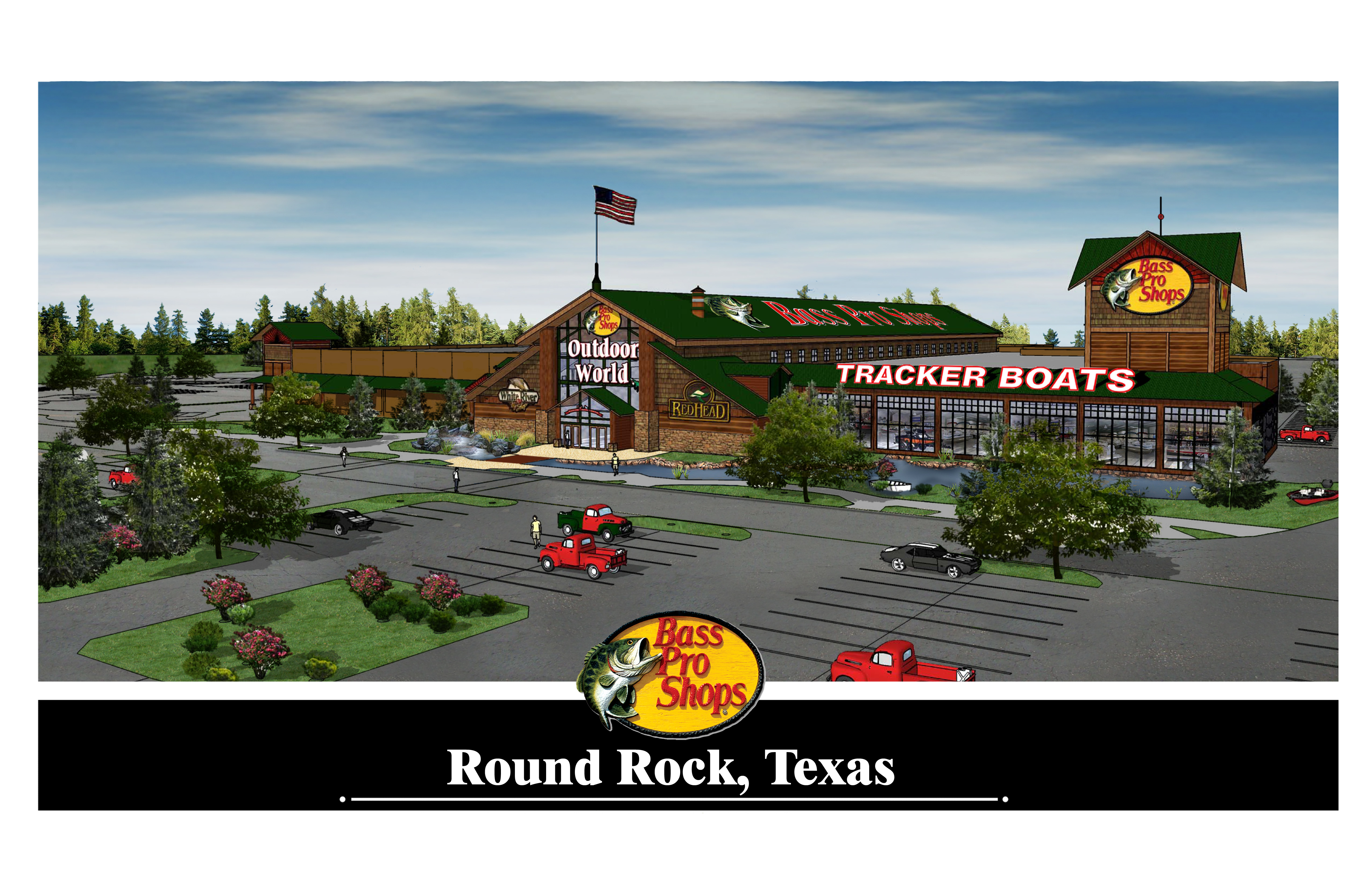 bass pro shops news releases bass pro shops to open outdoor world store in round rock texas. Black Bedroom Furniture Sets. Home Design Ideas