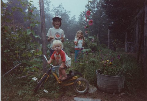 The Williams kids, corralled momentarily for this photo in the late 1980s.