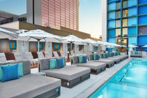 Photo Of The Pool Side Lounges And Cabanas At The Linq Las Vegas