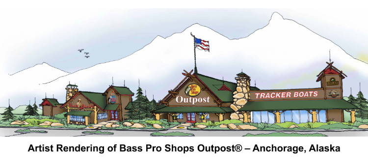 Artist Rendering of Bass Pro Shops Outpost® – Anchorage, Alaska