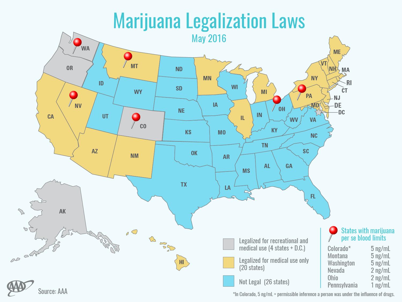 study fatal crashes involving pot doubled after marijuana a map