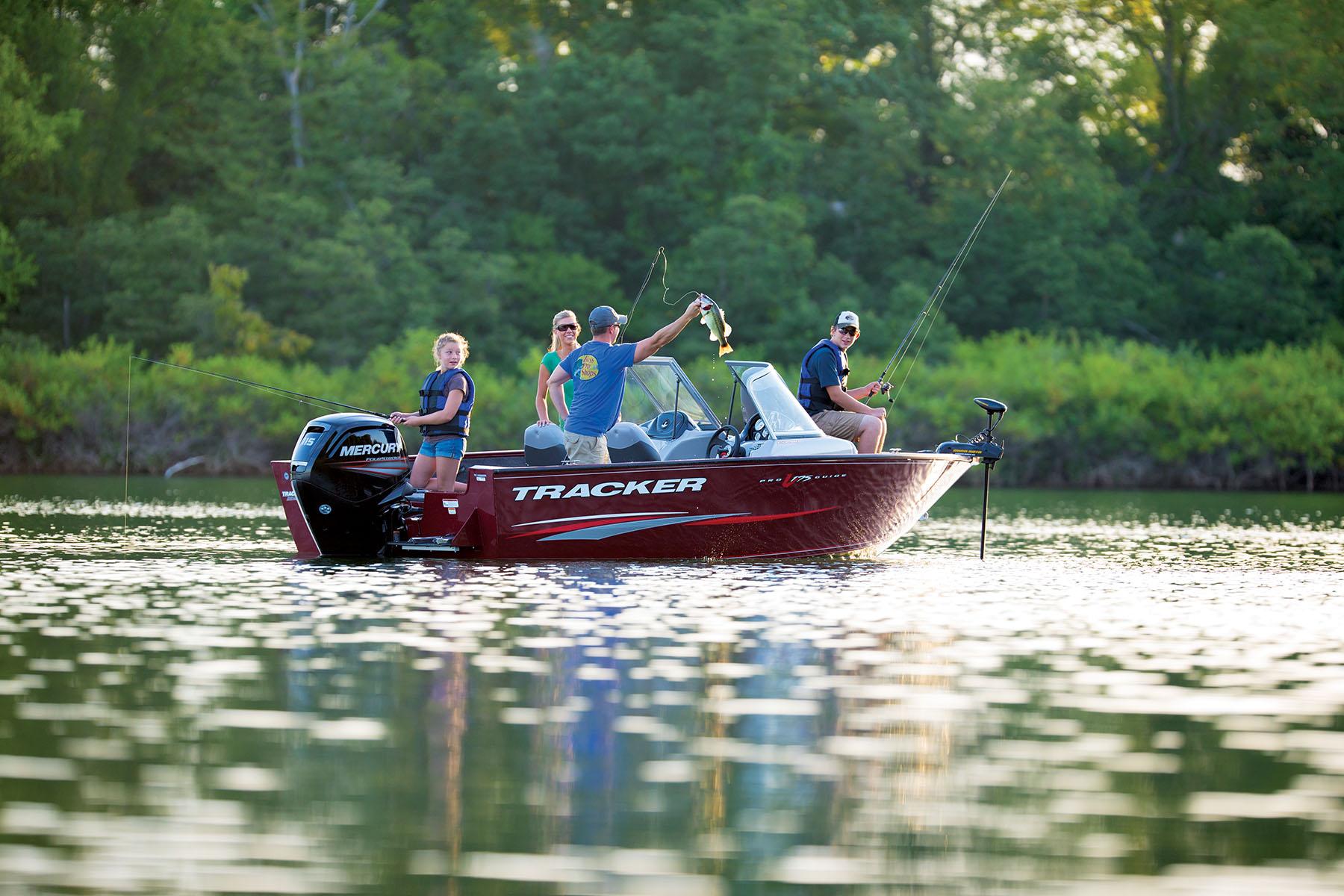 5-Year, full-coverage warranty for Tracker aluminum fishing boats