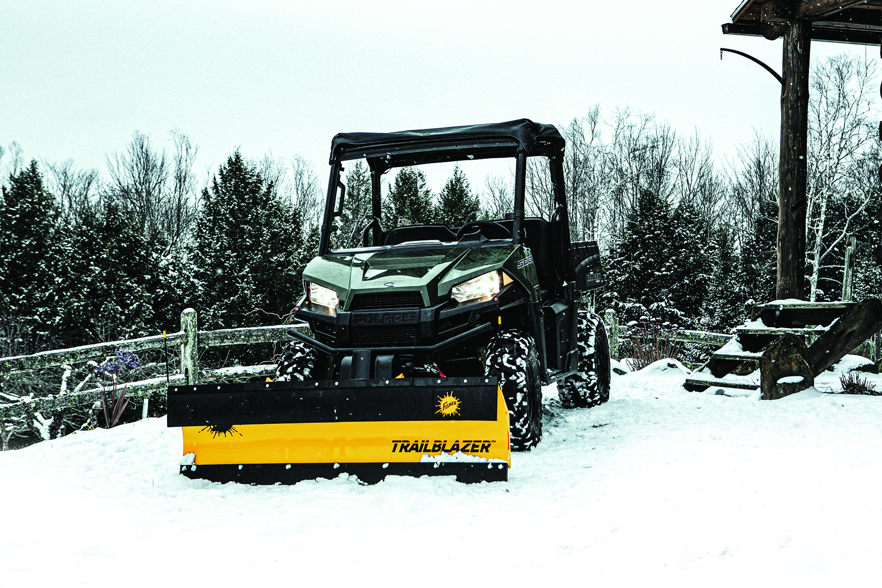 Fisher Engineering announces new mid-duty plow and drop spreaders UTVs